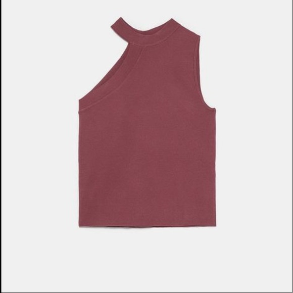 Zara Knit Top With Cut-Outs